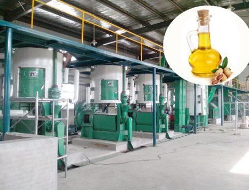 Peanut oil pretreatment production line