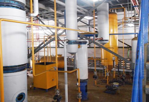 Groundnut oil pretreatment machine